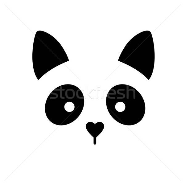 Imóveis logotipo identidade gato animal assinar Foto stock © antoshkaforever