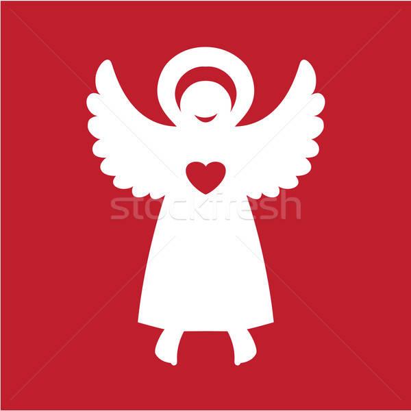 ангела ребенка сердце свет ночь красный Сток-фото © antoshkaforever