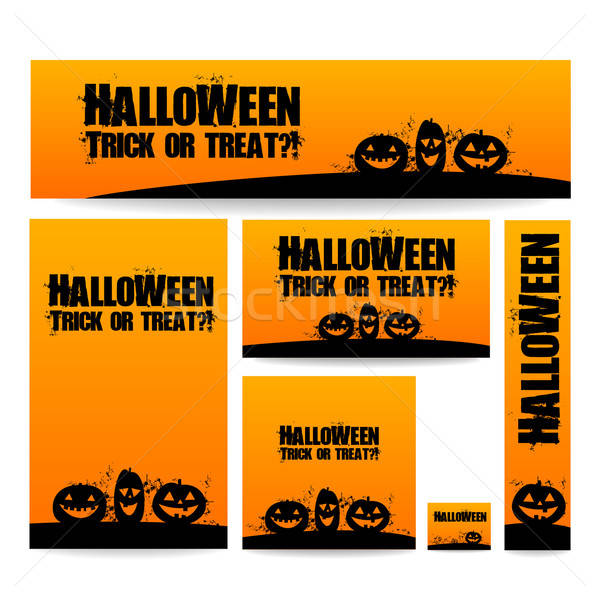 Halloween bandeira banners vetor projeto templates Foto stock © antoshkaforever