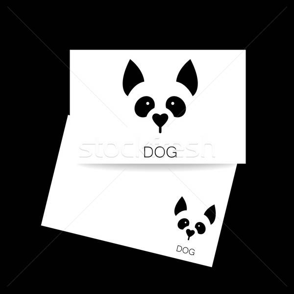 собака животного шаблон знак иллюстрация Сток-фото © antoshkaforever