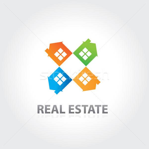 房地產 財產 向量 設計 分子 業務 商業照片 © antoshkaforever