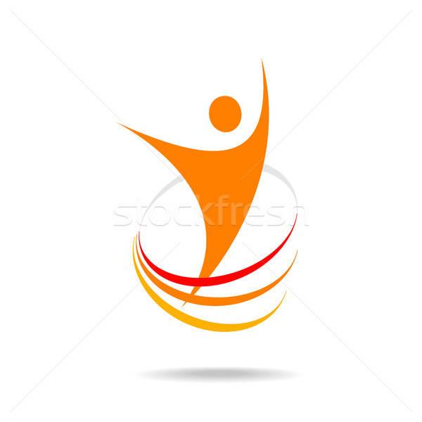 Sucesso energia modelo logotipo design de logotipo símbolo Foto stock © antoshkaforever