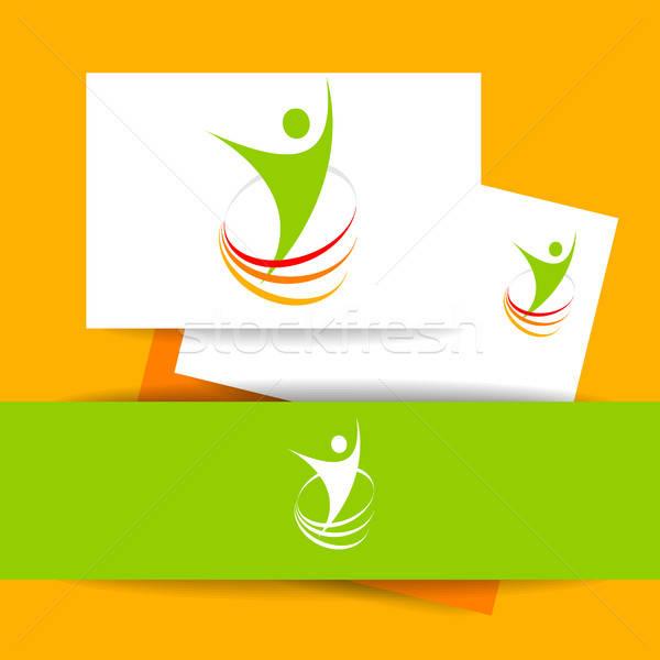 Successo energia modello logo simbolo vincitore Foto d'archivio © antoshkaforever