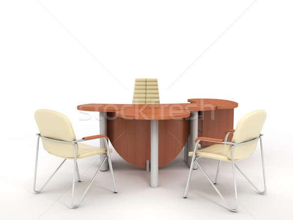 Ofis mobilya ayarlamak yalıtılmış ışık Stok fotoğraf © anyunoff