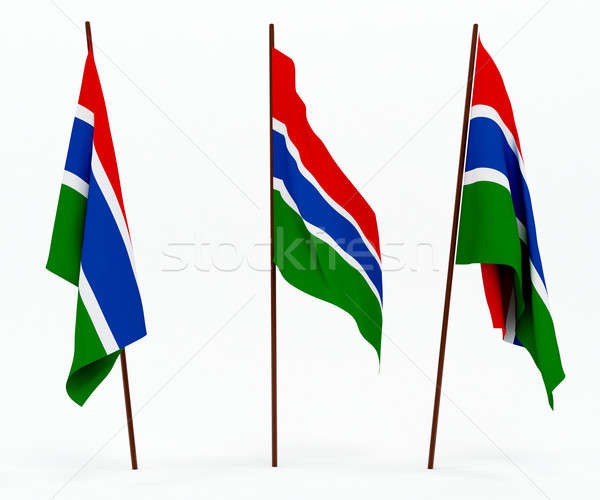 Stock photo: Flag of Gambia