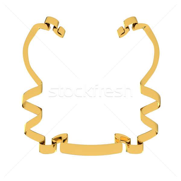 Cinta dorado aislado blanco marco signo Foto stock © anyunoff