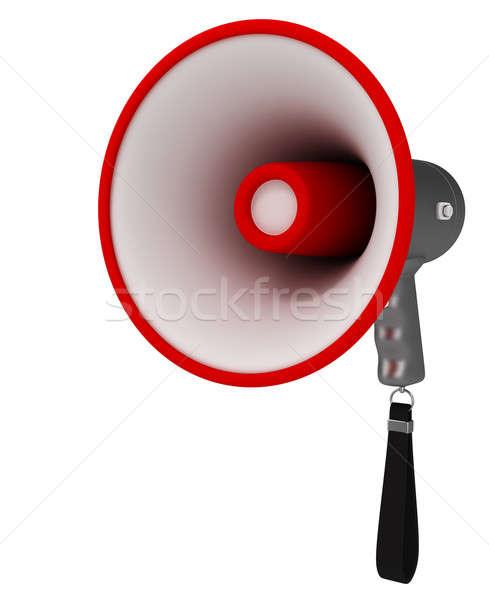 Megafon yalıtılmış beyaz 3d render konuşmacı konuşmak Stok fotoğraf © anyunoff