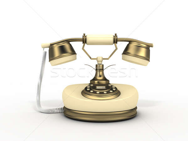 Edad teléfono modelo aislado blanco teléfono Foto stock © anyunoff