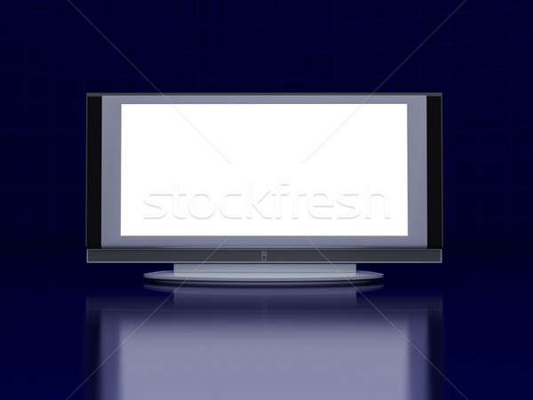 Tv Screen piso oscuro azul futurista Foto stock © anyunoff