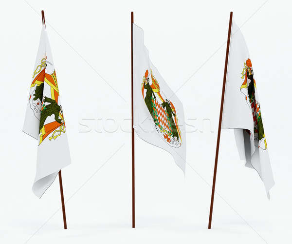 Bandera Mónaco blanco cultura objetos banner Foto stock © anyunoff