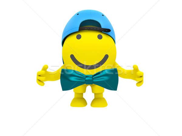 Mavi renk gülen sevinç sarı Stok fotoğraf © anyunoff
