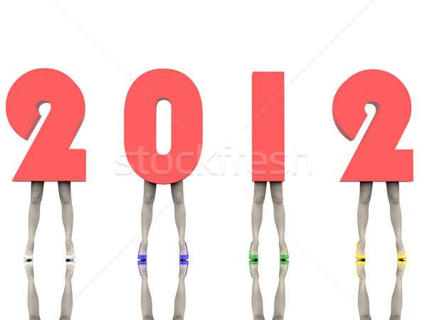 New Year's numbers Stock photo © anyunoff
