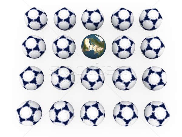 Calcio terra pianeta terra bianco mondo Foto d'archivio © anyunoff