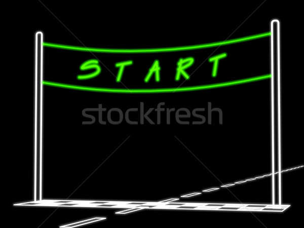 Stock photo: Conditional picture of an auto racing