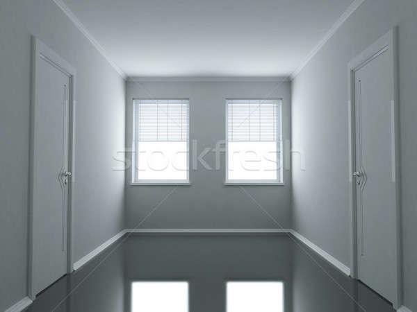 Vuota ufficio abstract bianco nero casa Foto d'archivio © anyunoff