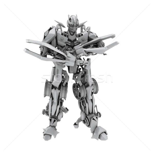 Robot izolált fehér 3d render technológia játékok Stock fotó © anyunoff