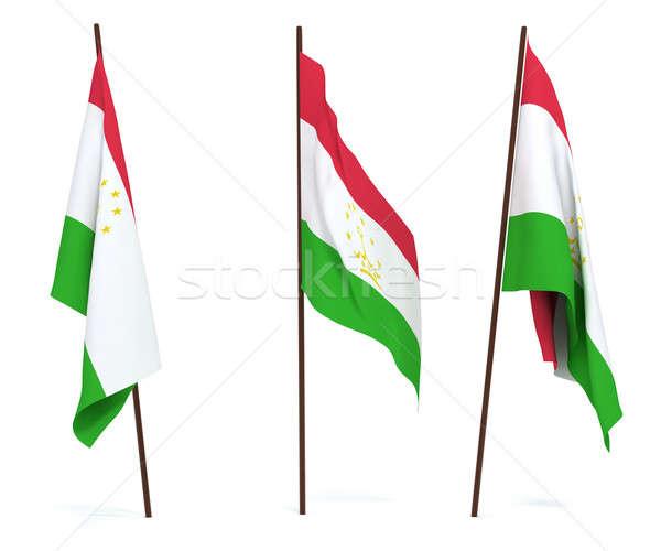 Flag of Tajikistan Stock photo © anyunoff
