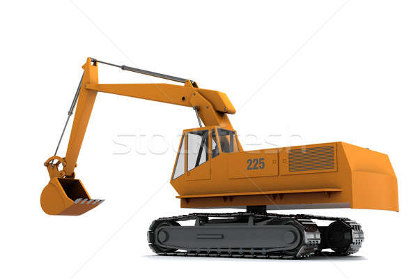 Naranja sucia aislado blanco móviles trabajador Foto stock © anyunoff