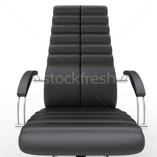 офисные кресла один изолированный белый служба Председатель Сток-фото © anyunoff