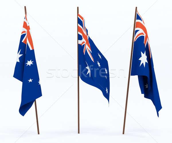Bayrak Avustralya beyaz kültür afiş bekçi Stok fotoğraf © anyunoff
