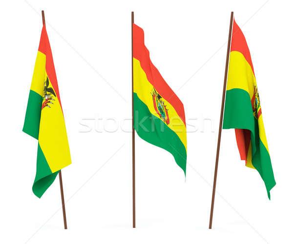 Bandera Bolivia blanco cultura banner guardia Foto stock © anyunoff