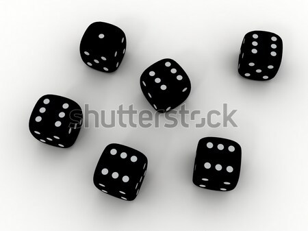 Color playing dice Stock photo © anyunoff