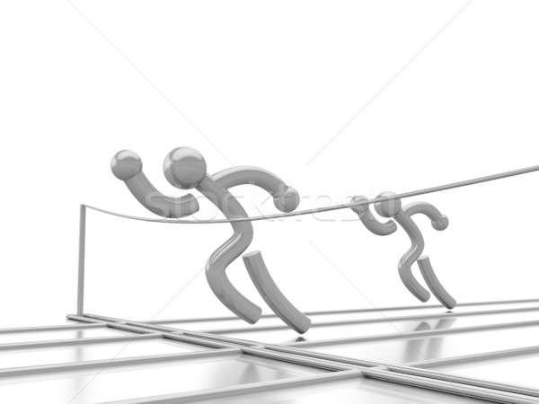 Atlétika verseny tükör felület számítógépes grafika csoport Stock fotó © anyunoff