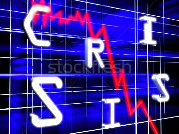 Stock diagrama azul futurista oscuro mundo Foto stock © anyunoff