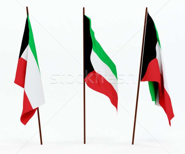 Bandiera Kuwait bianco cultura oggetti banner Foto d'archivio © anyunoff