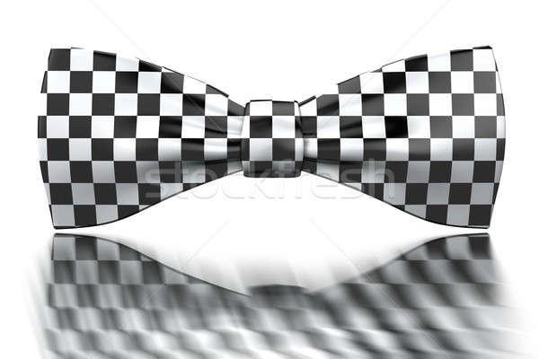 à carreaux blanc noir miroir surface affaires mariage Photo stock © anyunoff