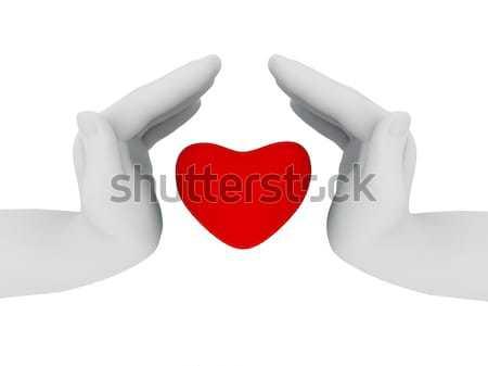 Eller kalp iki soyut renk Stok fotoğraf © anyunoff