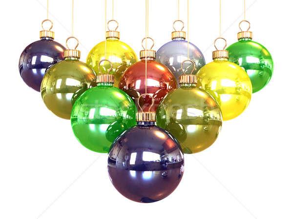 Pirámide Navidad blanco regalo Foto stock © anyunoff