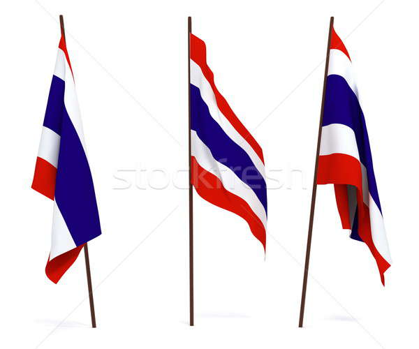 Bandera Tailandia blanco cultura objetos banner Foto stock © anyunoff