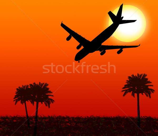 Piano bianco isolato cielo aereo Foto d'archivio © anyunoff