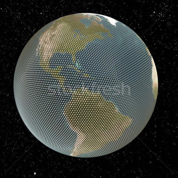 Dünya soyut resim küçük küreler star Stok fotoğraf © anyunoff