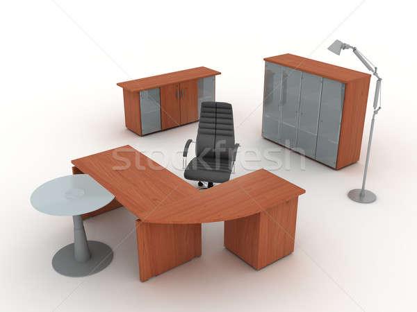 Işyeri ofis mobilya ayarlamak yalıtılmış Stok fotoğraf © anyunoff