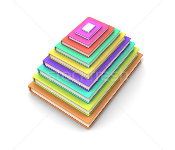 レイアウト 図書 ピラミッド 図書 白 紙 ストックフォト © anyunoff
