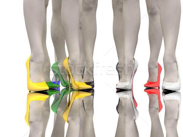 Women's feet Stock photo © anyunoff