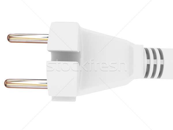 Elettrici plug isolato bianco tecnologia energia Foto d'archivio © anyunoff