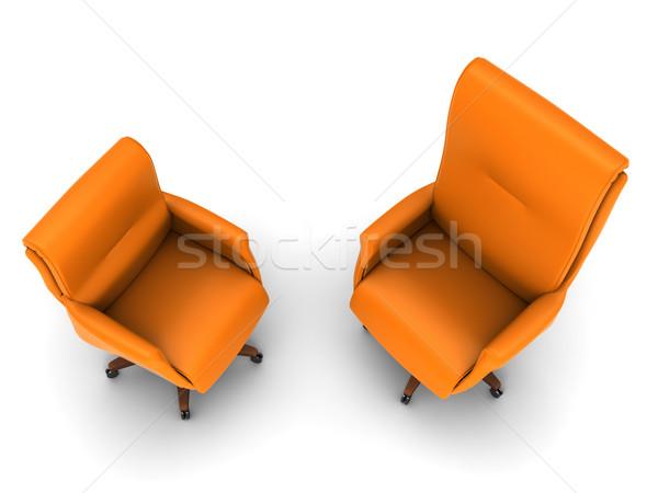 Silla de oficina naranja aislado blanco oficina trabajo Foto stock © anyunoff
