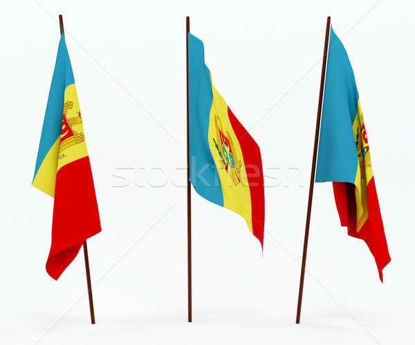 Bayrak Moldova beyaz kültür nesneler afiş Stok fotoğraf © anyunoff