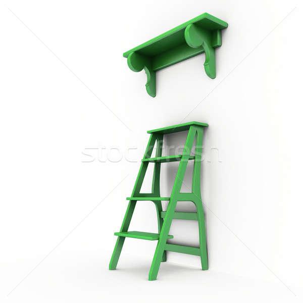 Stair and bookshelf Stock photo © anyunoff