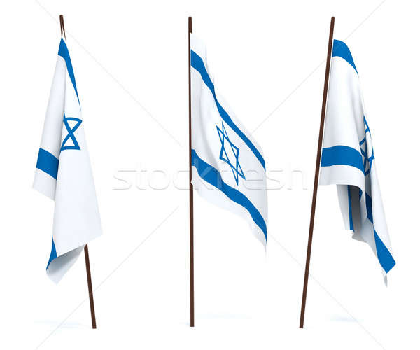 Stok fotoğraf: Bayrak · İsrail · beyaz · kültür · nesneler · afiş