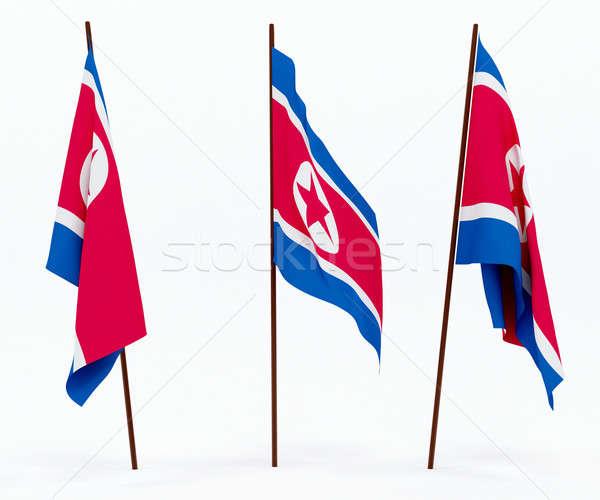 Flag of North Korea Stock photo © anyunoff