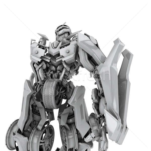 Robot aislado blanco 3d tecnología juguetes Foto stock © anyunoff