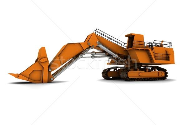 Naranja aislado blanco trabajo metal camión Foto stock © anyunoff