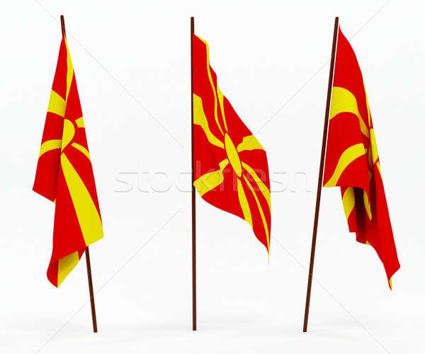 Bandera Macedonia blanco cultura objetos banner Foto stock © anyunoff