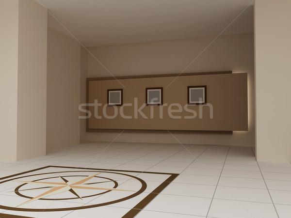 Iç soyut salon 3d render görüntü duvar Stok fotoğraf © anyunoff