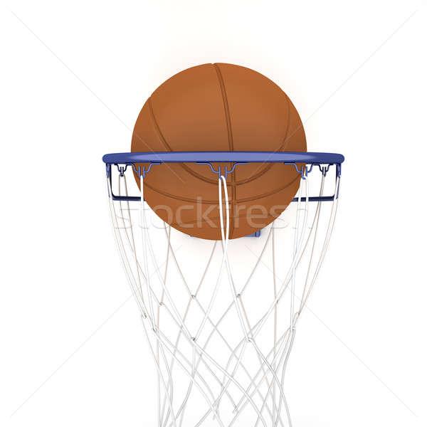 Basket due isolato bianco sport giocare Foto d'archivio © anyunoff