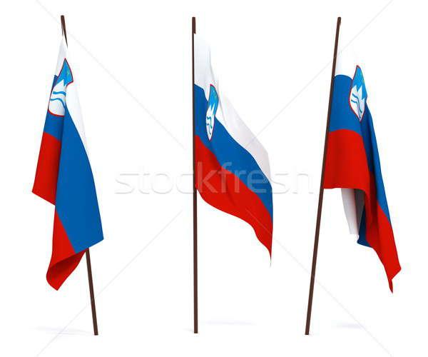 Bandiera Slovenia bianco cultura banner guardia Foto d'archivio © anyunoff